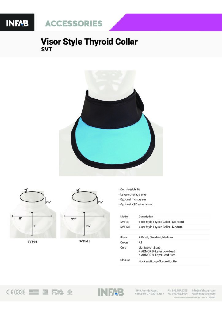Visor Style Thyroid Collar - SVT
